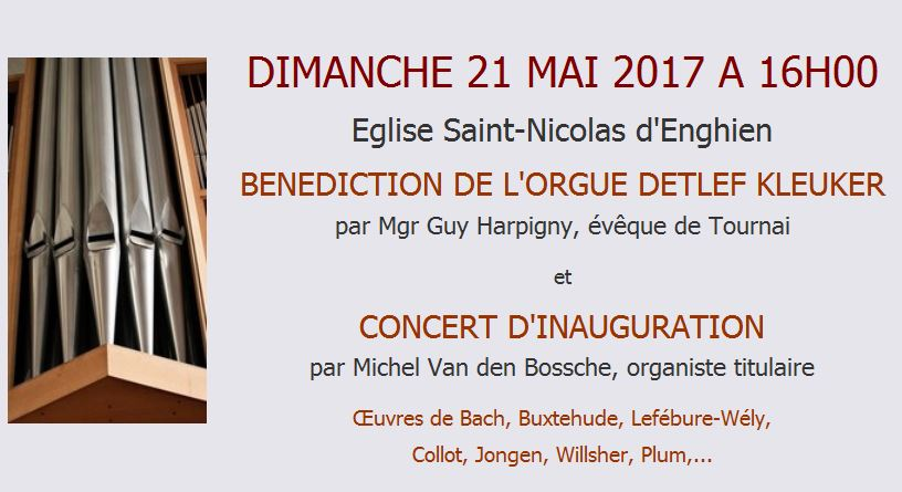 Annonce Benediction Inauguration Orgue 21052017