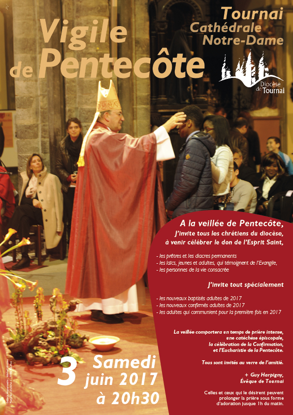 affiche vigile 2017 Cathedrale tournai diocese