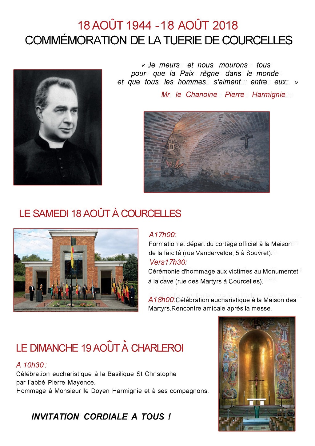 Affiche commemoration courcelles
